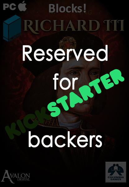 Kickstarter Pledge collection Richard III